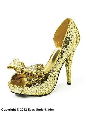 Gnistrande sko med hög klack